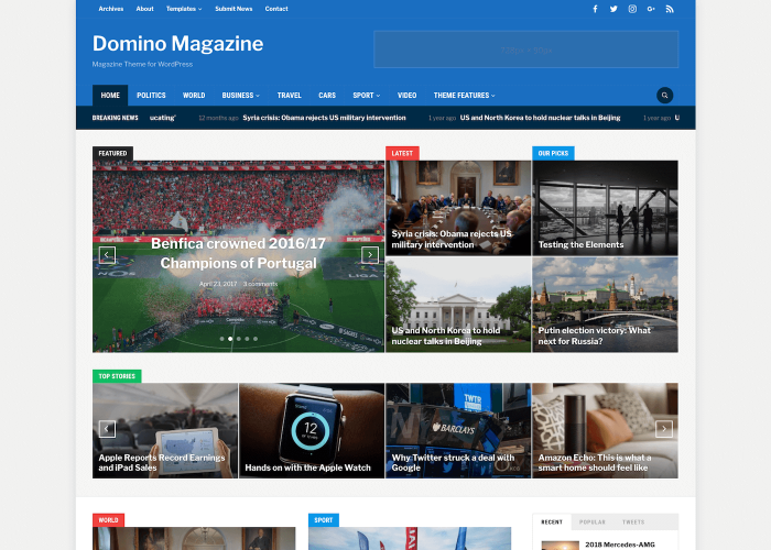 45 Free Premium Wordpress Themes With Magazine Or Grid Layouts