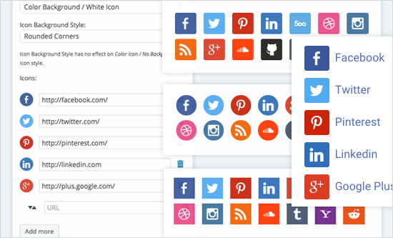 Having good-looking social media buttons can be important for the overall look of your site.