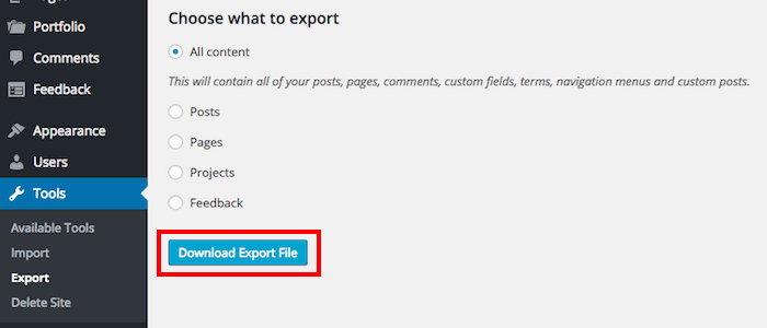 download-export