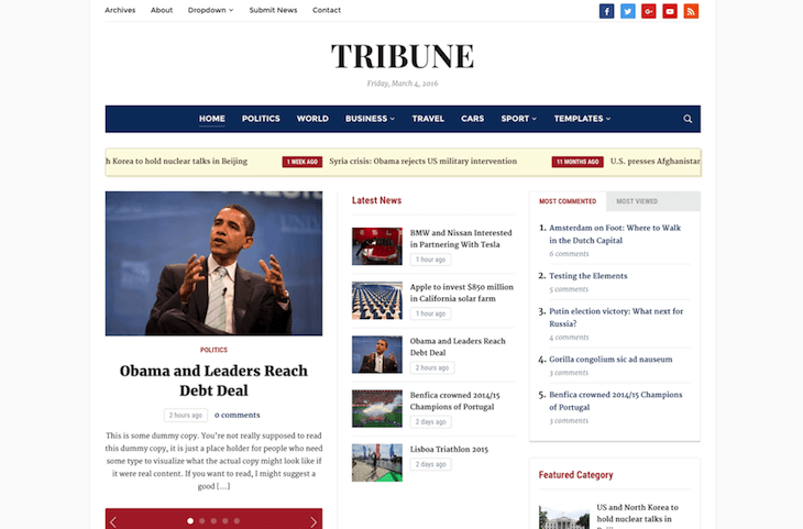 Tribune 4.0 Theme