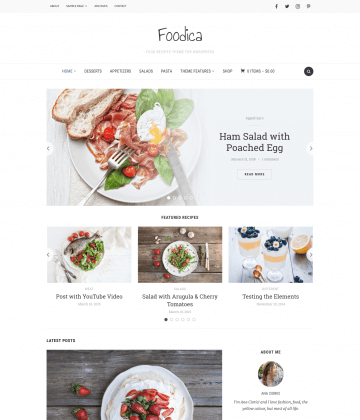 Foodica WordPress Theme
