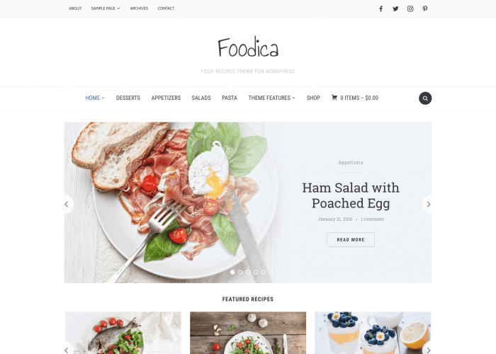 Foodica beautiful recipe food blog wordpress theme wpzoom forumfinder Image collections