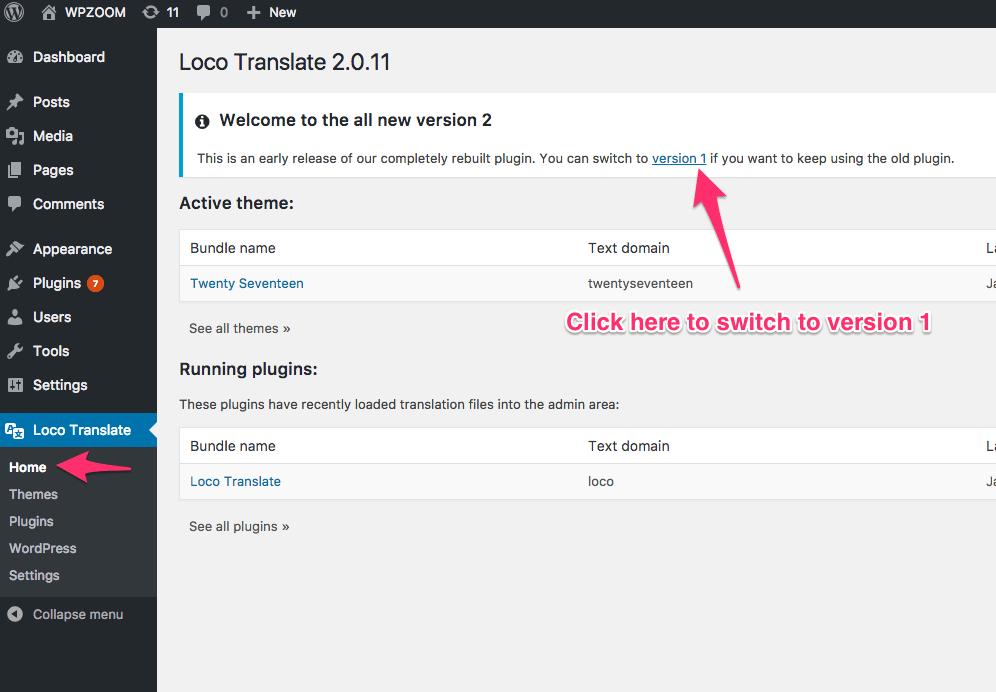Translate a Theme in Loco Translate v.1