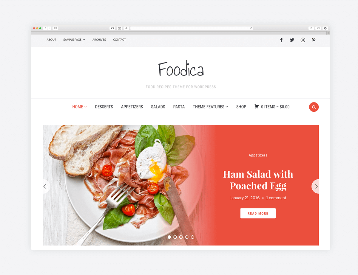 foodica u2022 beautiful recipe food blog wordpress theme u2013 wpzoom