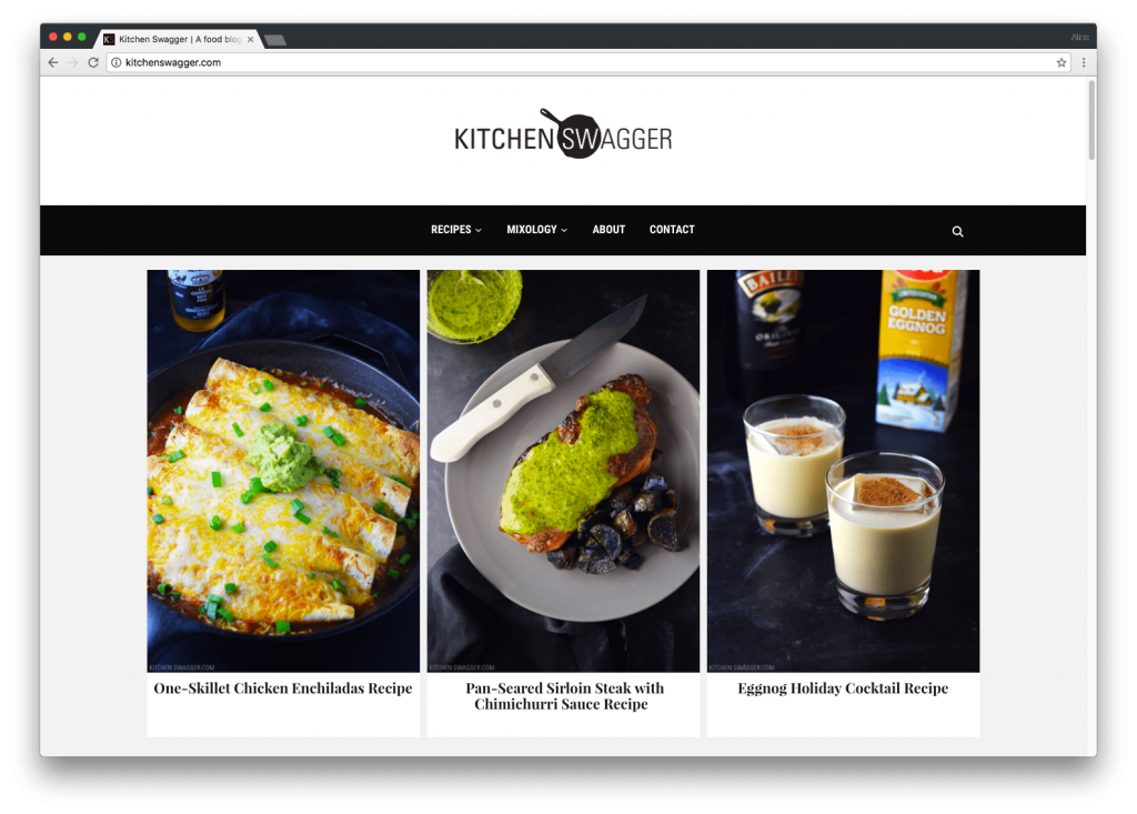 Finding the perfect food blog wordpress theme with kitchen swagger a food blog tick we sat down with kitchen swagger founder and co author shawn williams to talk about the challenges starting a food blog cooking and forumfinder Gallery
