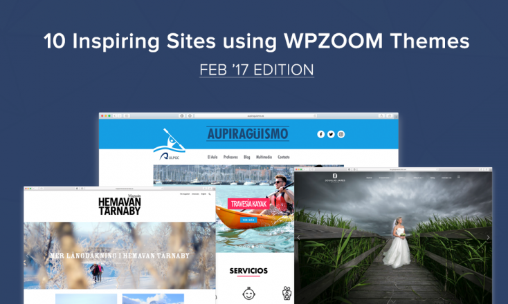 10 Inspiring Sites Using WPZOOM Themes: Feb '17 Edition