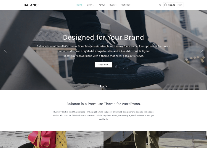 Balance Minimalist Woocommerce Wordpress Theme Wpzoom