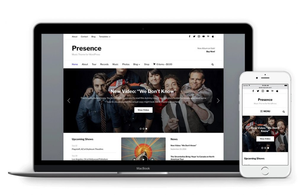 Presence is our favourite WordPress theme for podcasts