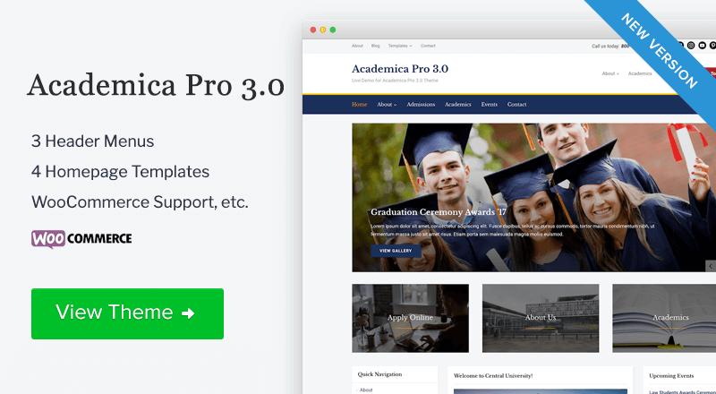 Academica Pro 3.0 Theme