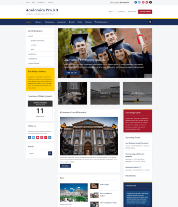 Academica Pro 3.0 WordPress Theme