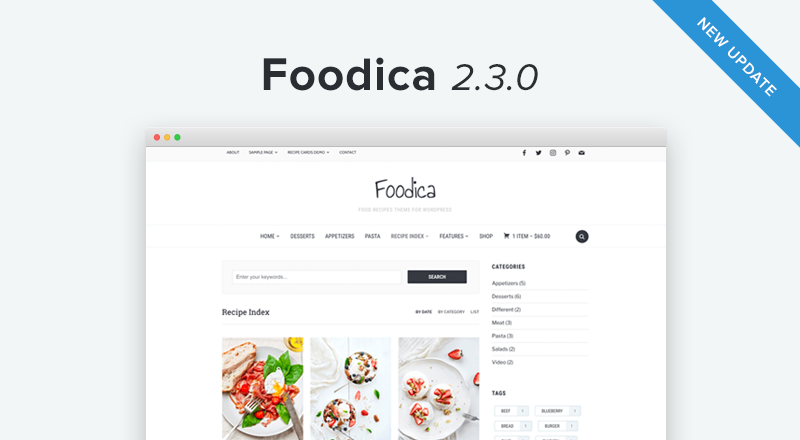 How to create a recipe index in foodica 230 forumfinder Choice Image