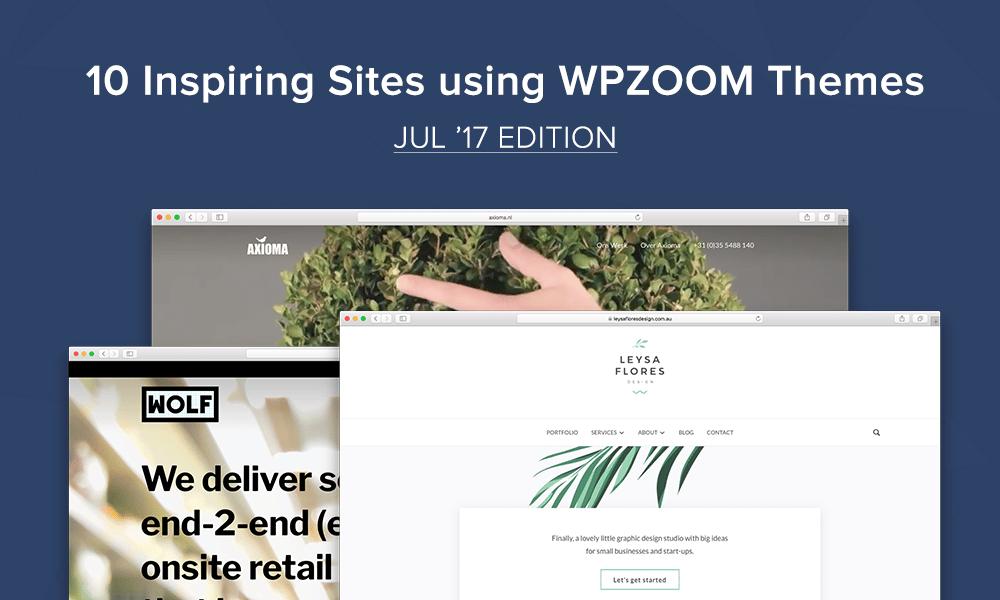 10 inspiring sites using wpzoom themes jul 17 edition