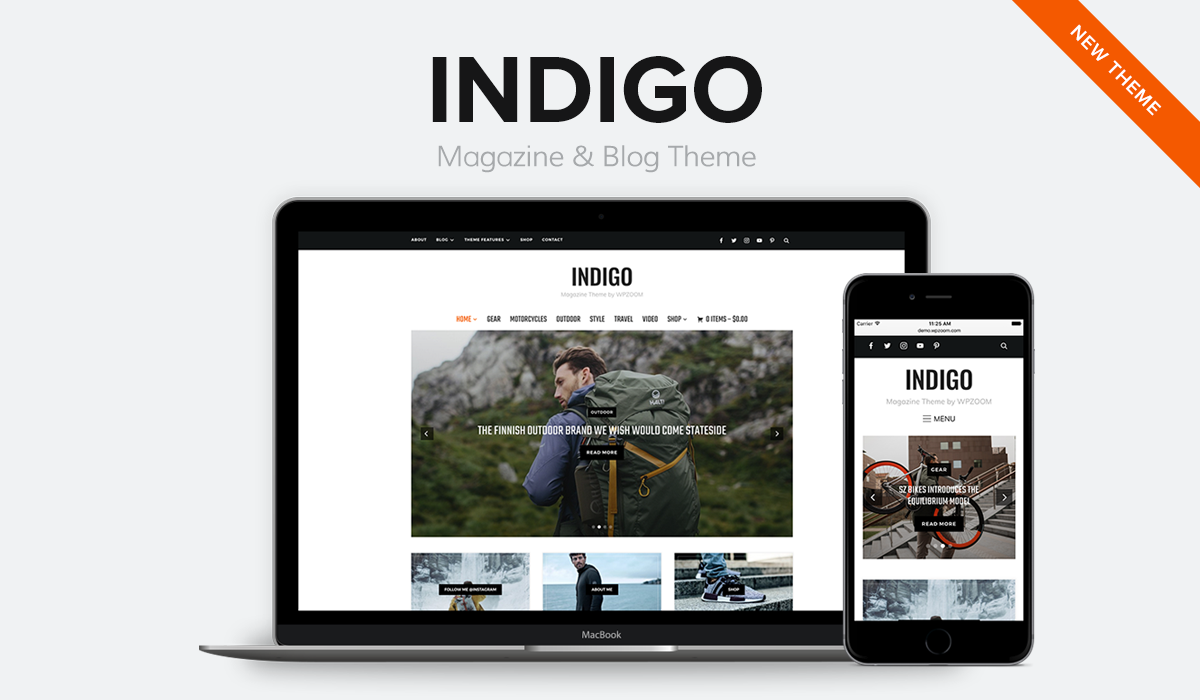 indigo blog magazine wp theme wpzoom