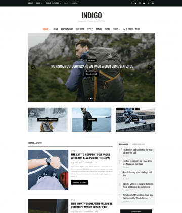 Indigo WordPress Theme