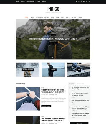 Indigo WordPress Theme