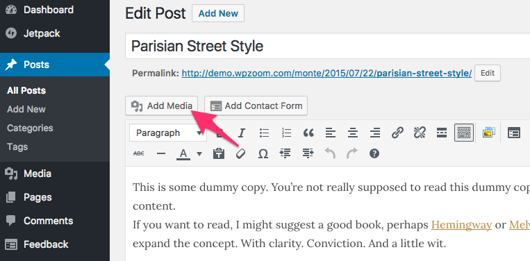 how to add images side by wide wordpress