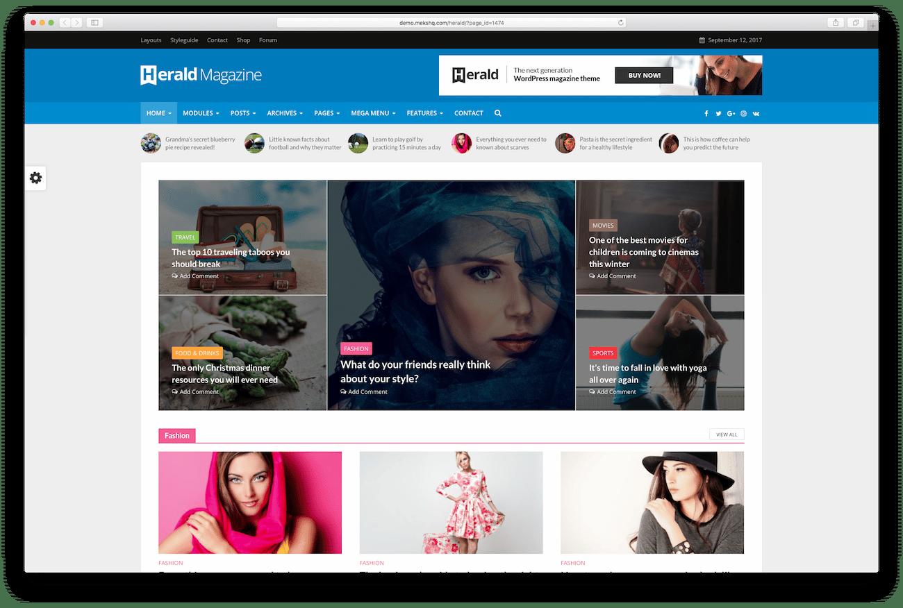 WordPress magazine themes Herald Magazine