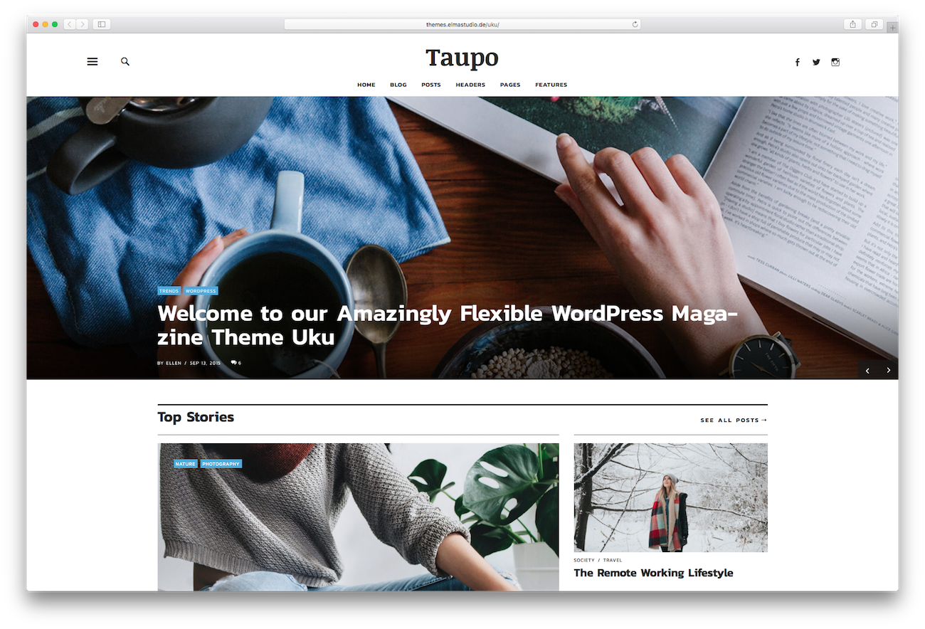 WordPress magazine themes Uku