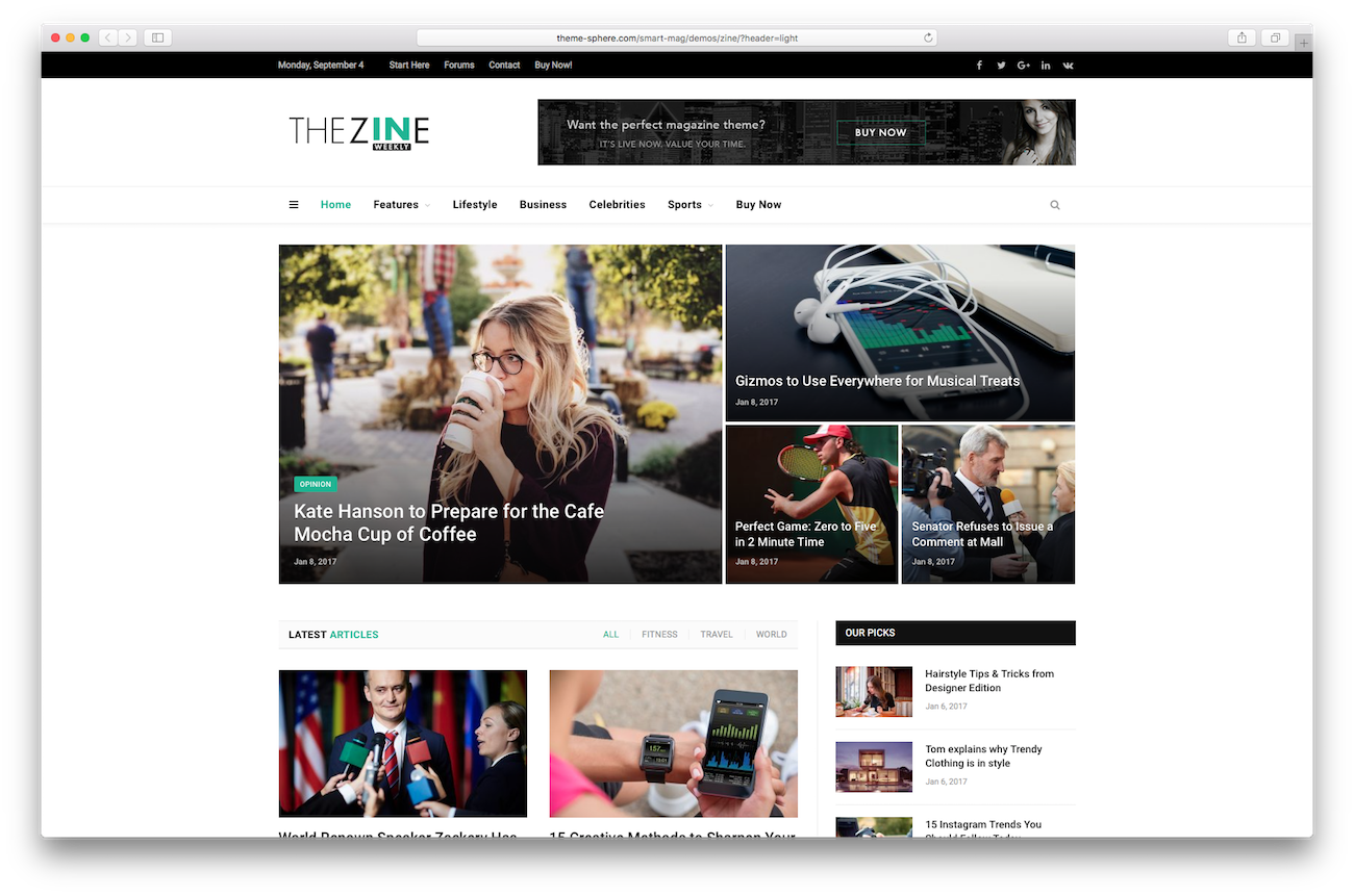 WordPress magazine themes SmartMag