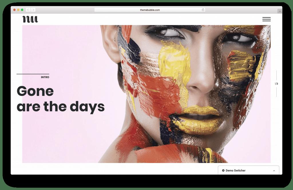 Adios WordPress portfolio theme screenshot