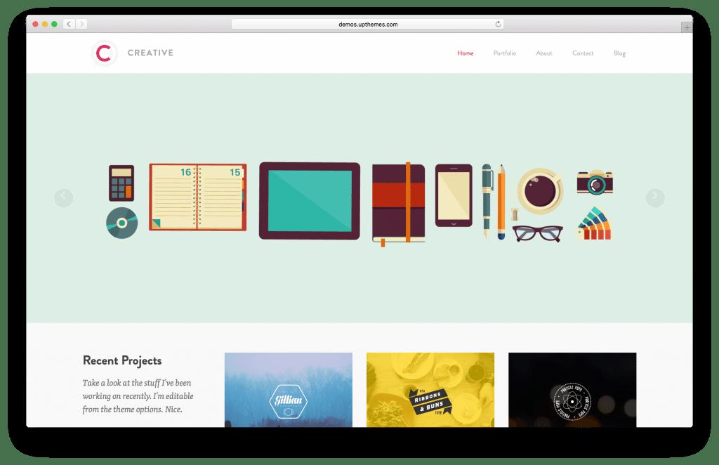 Creative WordPress portfolio theme screenshot