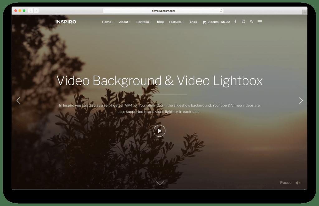 Inspiro WordPress portfolio theme