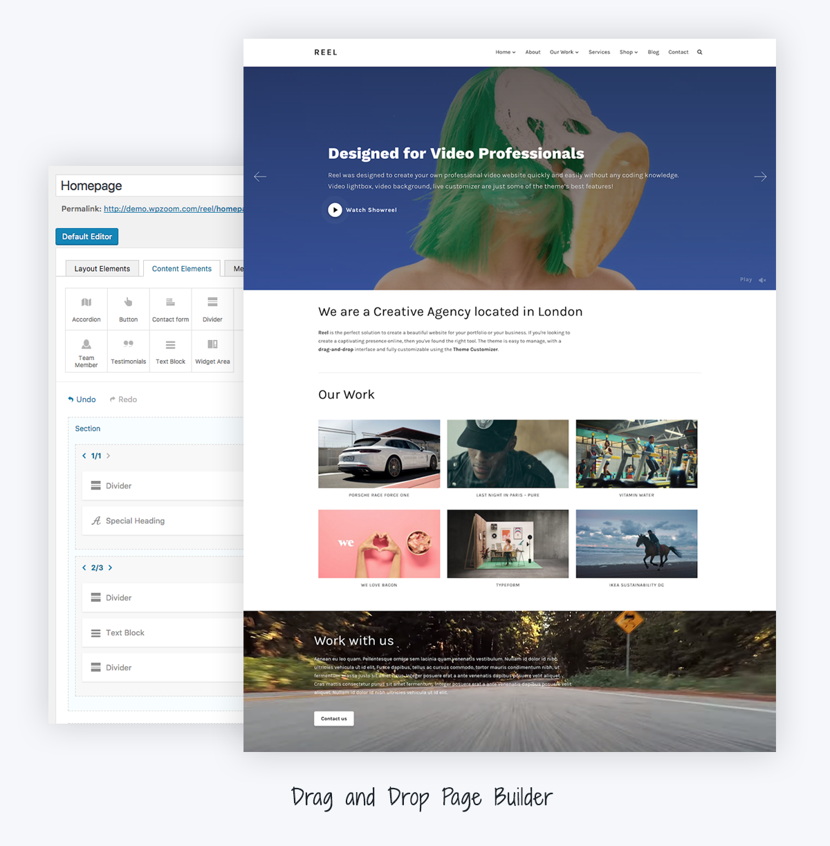 Reel - Video Portfolio WordPress Theme - WPZOOM