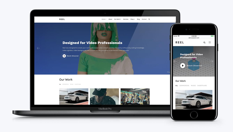 WordPress video theme Reel