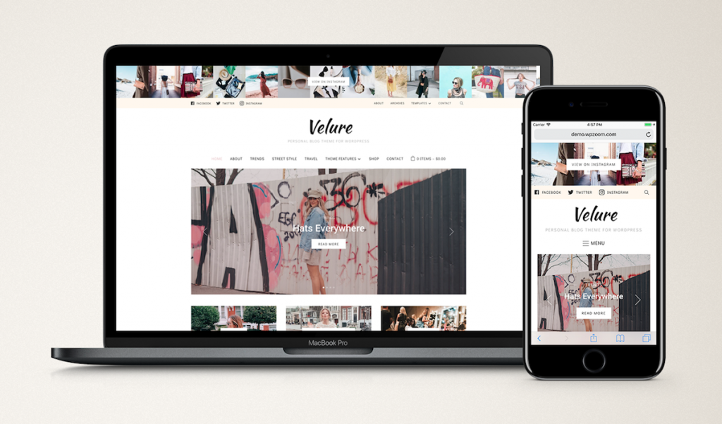 Fashion blog theme velure.