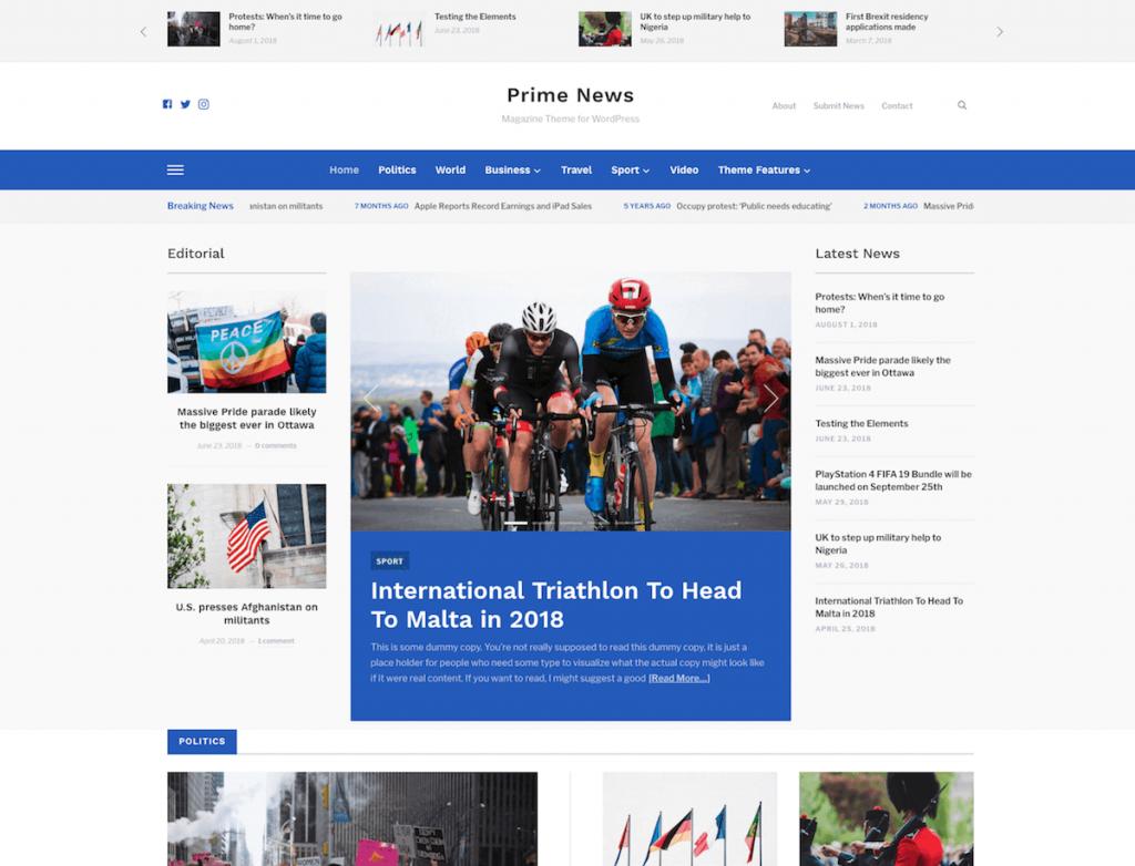 Meet Prime News Our New Magazine WordPress Theme