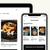 Gourmand theme mobile